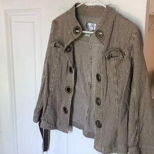 How To Live beach boutique seersucker jacket